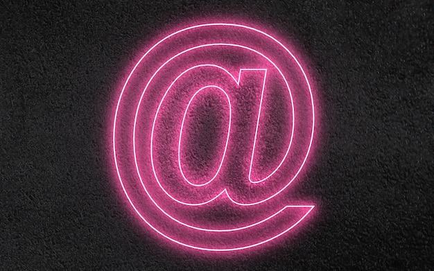 Icône de signe de symbole de courrier 3d