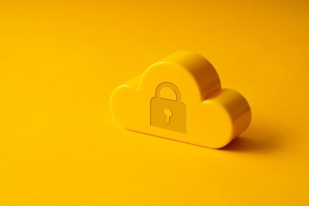 Icône de technologie cloud sur fond coloré et créatif pour le concept d'entreprise mondiale