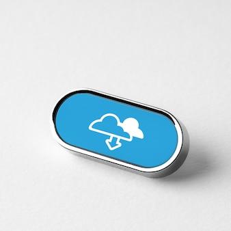 Icône de technologie cloud pour les achats en ligne concept d'entreprise globale sur clavier rétro