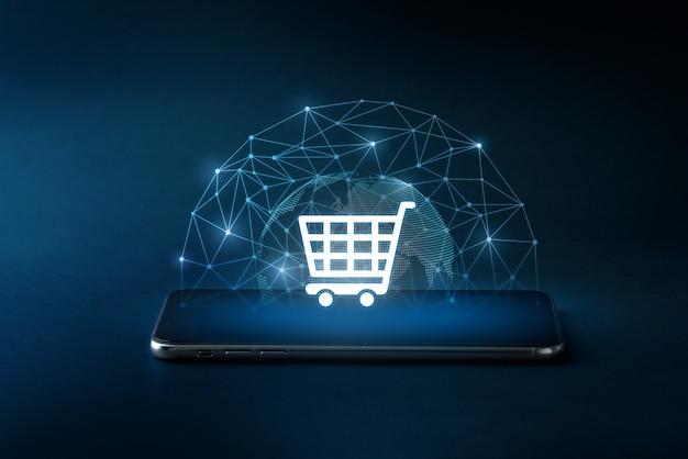 Icône de la technologie cloud sur smartphone