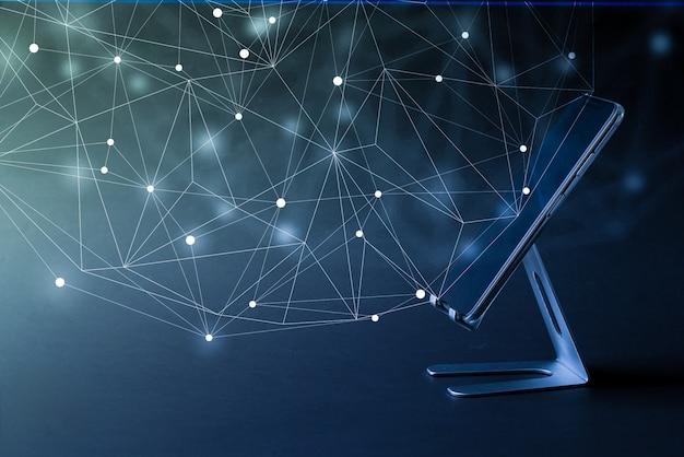 Icône de technologie cloud sur téléphone intelligent pour concept d'entreprise