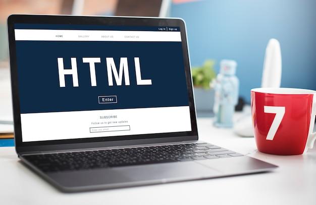 Icône de la technologie de codage html de programmation