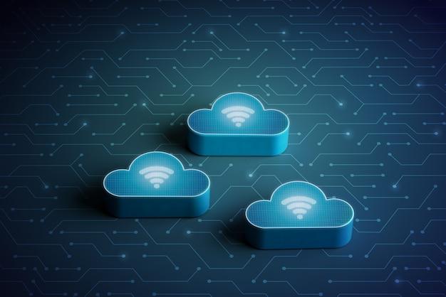 Icône de la technologie creative cloud