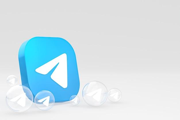 Icône De Télégramme Sur Le Rendu 3d Du Smartphone Ou Du Téléphone Portable à L'écran Photo Premium