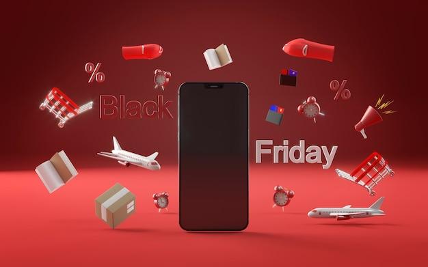 Icône de téléphone pour le vendredi noir