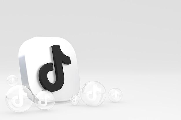Icône tiktok sur écran smartphone ou téléphone mobile rendu 3d sur fond blanc