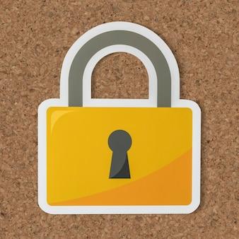 Icône de verrouillage de sécurité de confidentialité