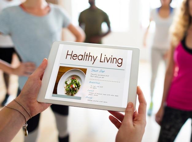 Icône de vie saine plan de régime bien-être