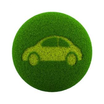 Icône de voiture sphère herbe