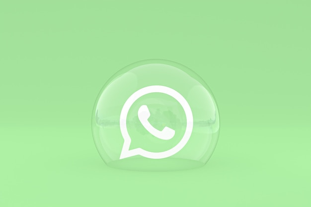 Icône whatapps sur écran smartphone ou téléphone mobile rendu 3d sur fond vert