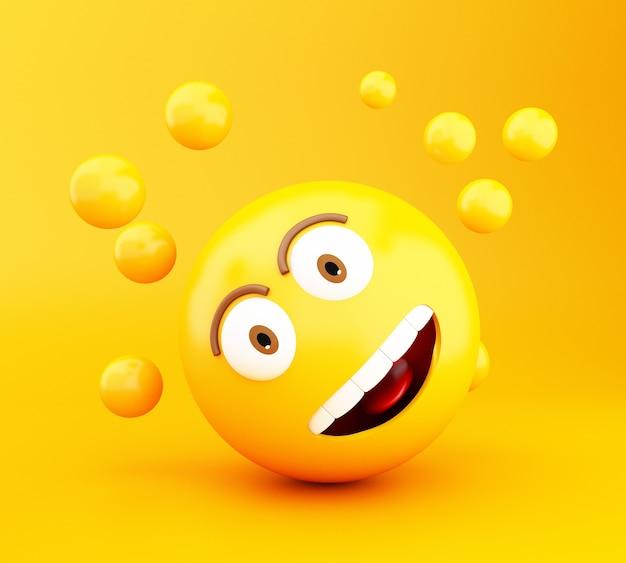 Icônes 3d emoji avec des expressions faciales.
