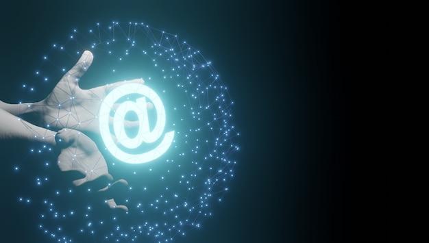 Icônes de contact d'affaires dans l'e-mail du téléphone magenta et le rendu de l'adresse d