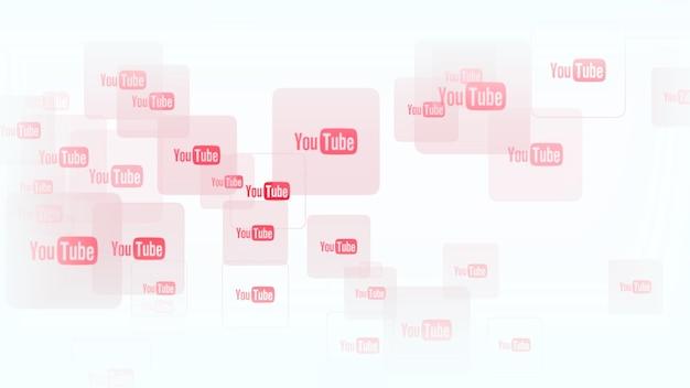 Icônes du réseau social youtube sur fond simple