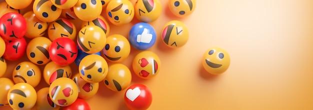 Icônes emoji avec des expressions faciales.