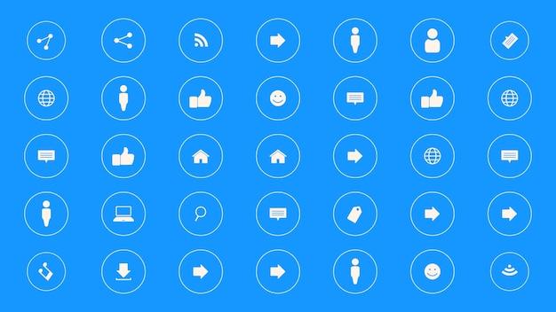 Icônes de réseau sur fond simple. style dynamique élégant et luxueux pour les modèles commerciaux, d'entreprise et sociaux