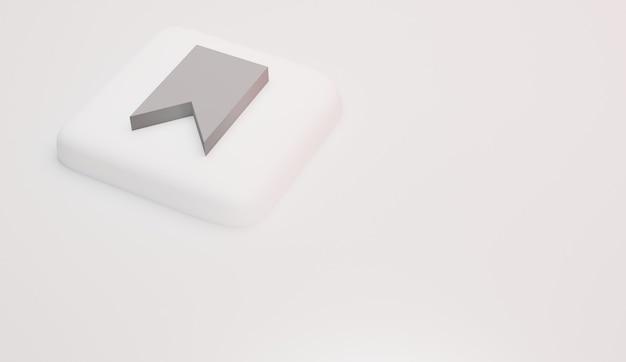 Icônes de signet et logo rendu 3d minimal