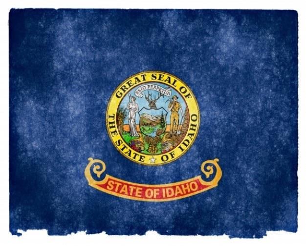 Idaho flag grunge