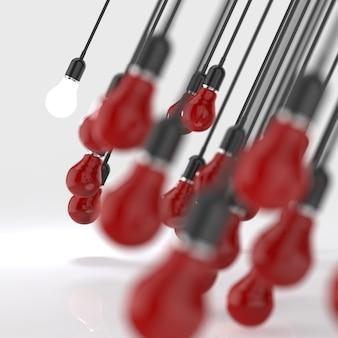 Idée créative et concept de leadership ampoule