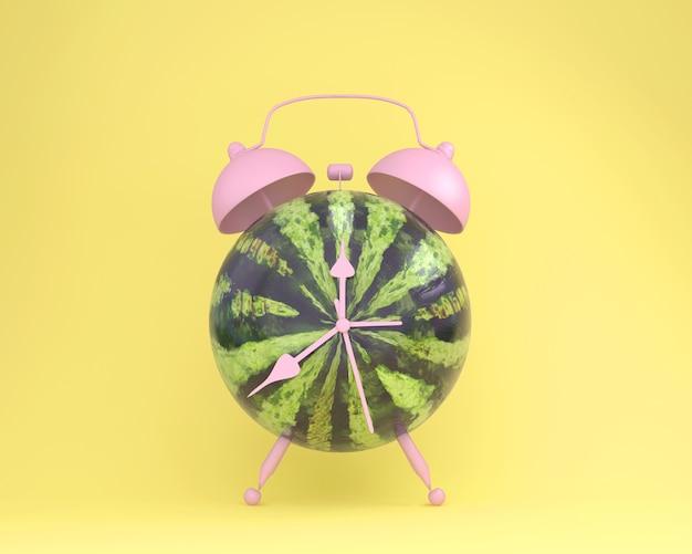 Idée créative mise en page fraîche réveil de pastèque