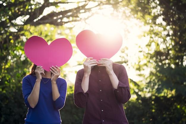 L'idée love, romance et valentine concept.