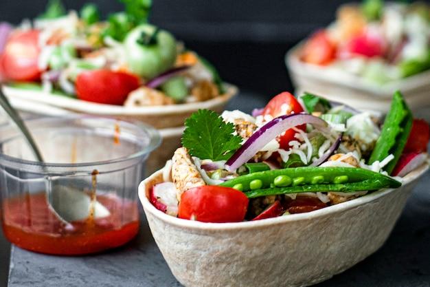 Idée de recette de bateaux tacos mexicains faits maison