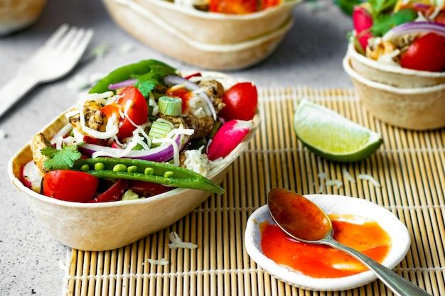 Idée de recette de bateaux à tacos tex mex maison