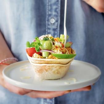 Idée de recette de nourriture maison tex mex taco boats