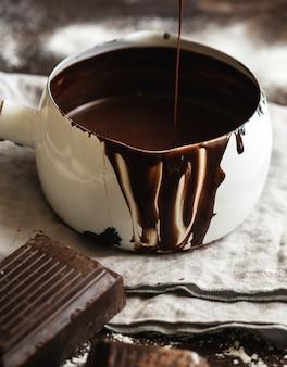 Idée de recette de photo de ganache en pot