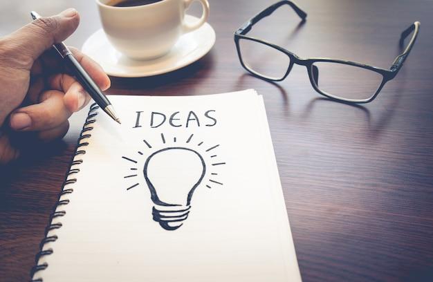 Idées de concepts de créativité d'entreprise