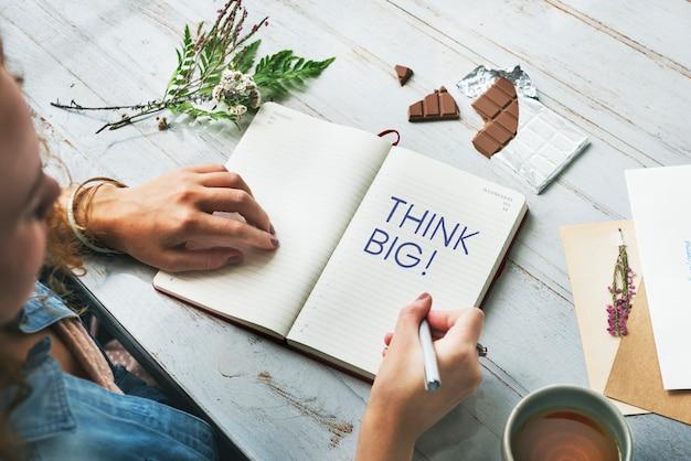 Idées créatives sur un papier