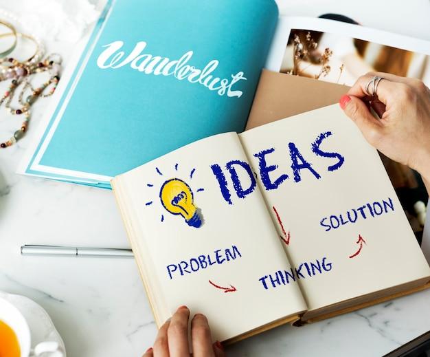 Idées innovation ampoule icône concept