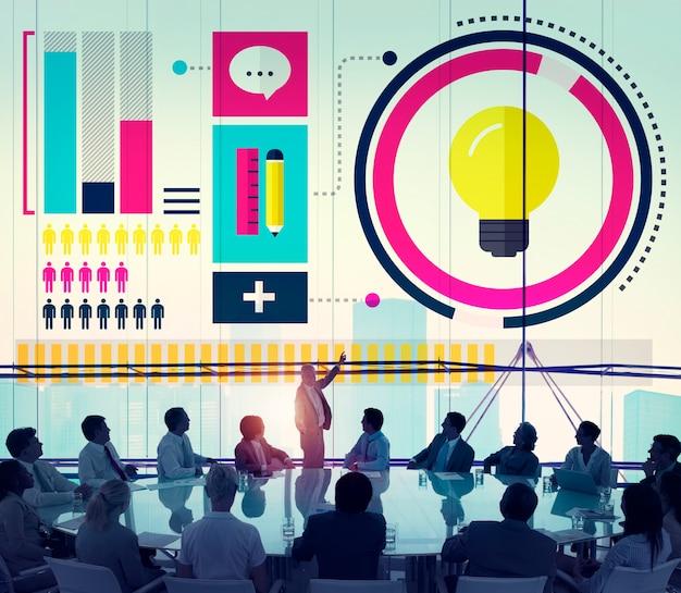 Idées innovation créativité connaissances inspiration vision concept
