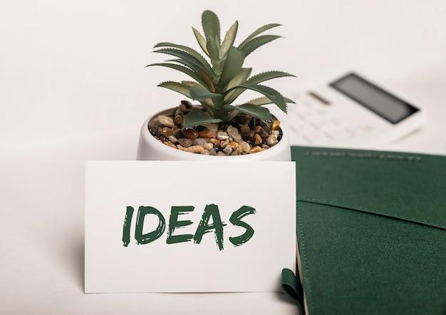 Idées de mots. concept de créativité écologique, entreprise verte et écologie
