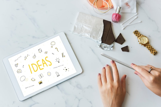 Idées, stratégie, action, conception, vision, plan, concept