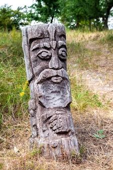 Idole en bois du dieu slave