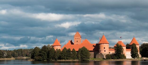 Île, château, trakai, lituanie