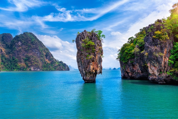L'île de james bond à phang nga, thaïlande.