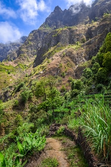 L'île de santo antao au cap vert