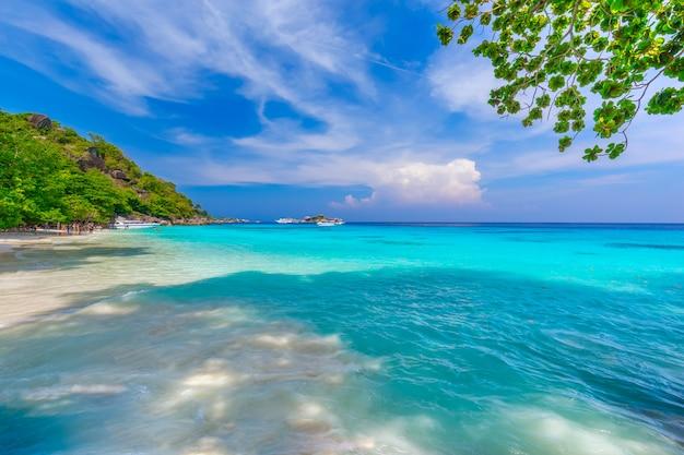 Île similan à la mer d'andaman, phuket, thaïlande