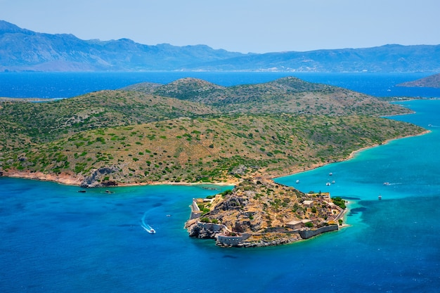 Île de spinalonga crète grèce