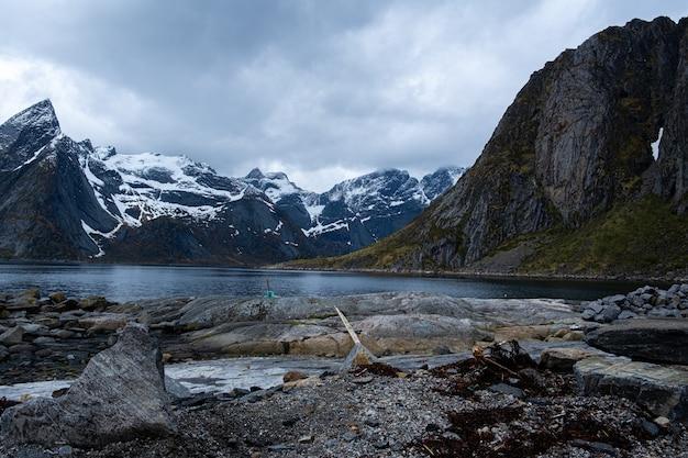 Îles lofoten, norvège, depuis la crête de reinebringen