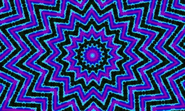 Illusion de mouvement d'image 2021, fond de kaléidoscope d'étoiles. belle texture kaléidoscope multicolore. conception unique de kaléidoscope, forme unique, texture merveilleuse, motif abstrait violet