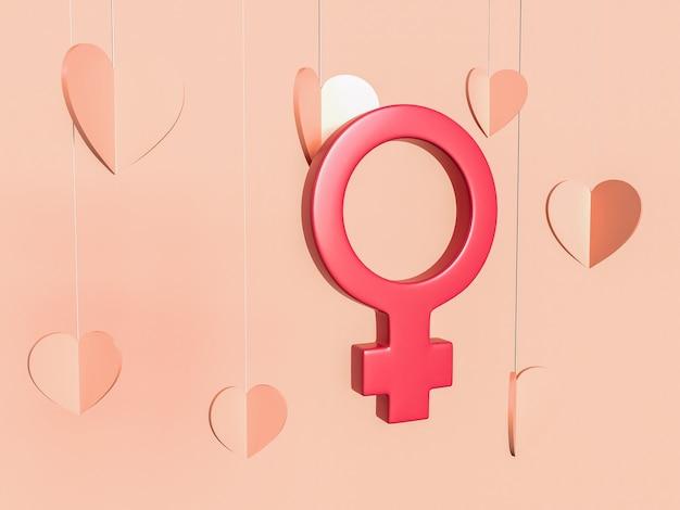 Illustration 3d, 8 mars. concept de journée internationale de la femme.