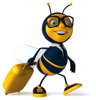 Illustration 3d d'une abeille d'affaires