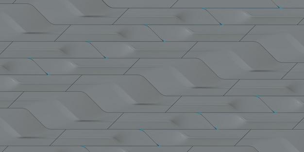 Illustration 3d abstrait géométrique gris