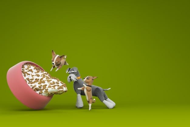 Illustration 3d de l'activité de chien
