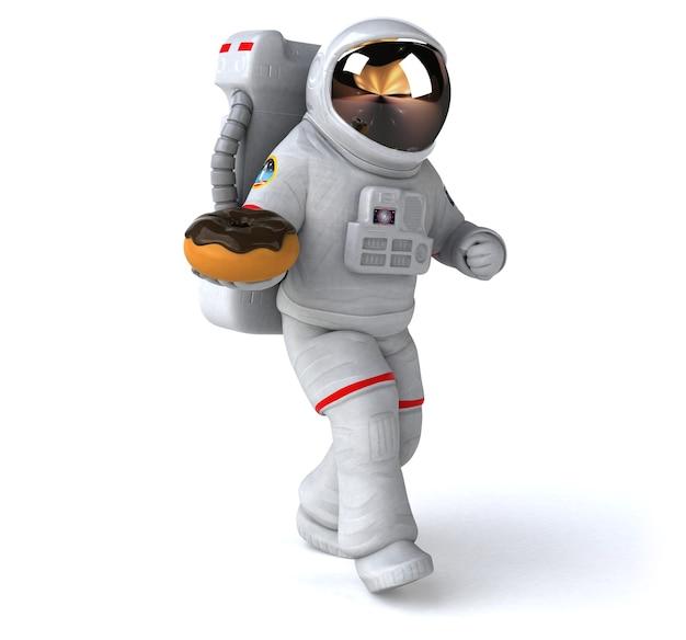 Illustration 3d amusante de l'astronaute