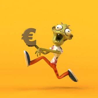 Illustration 3d amusante de zombie