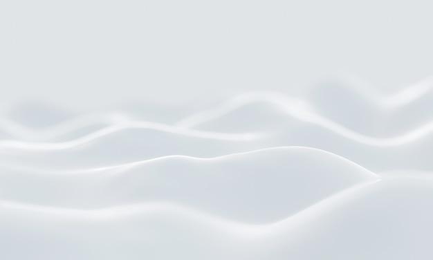 Illustration 3d. arrière-plan flou de neige blanche abstraite.