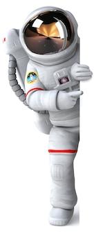 Illustration 3d de l'astronaute
